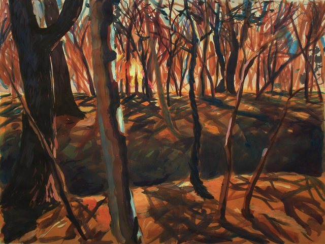 "Woods Sunset   22 x 29"""