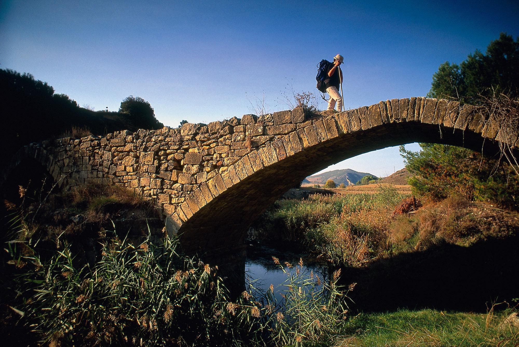 Pont sur le Rio Salado en Navarre, Espagne