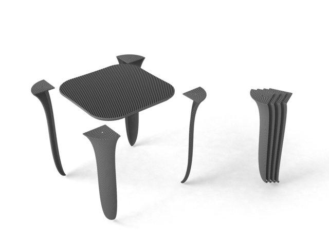 on tiptoes -, stool dismantling process, 2013