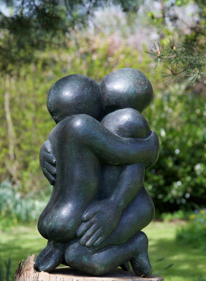 Large Embrace   1992  55 x 30 x 20cm  Bronze Resin  RP £2500  Kingham 2012