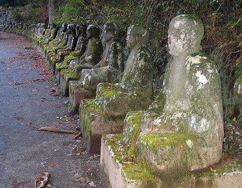 Japan Jizo statues