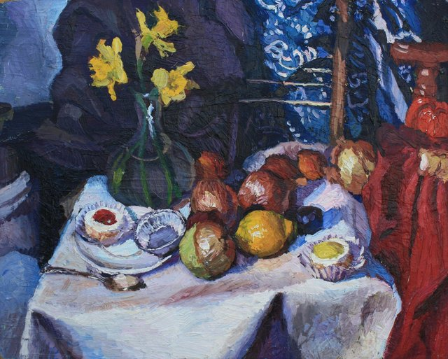 Daffodils and Pastries    24 x 30""