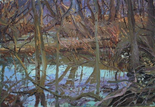"""Ithaca Swamp    18 x 24"""""""
