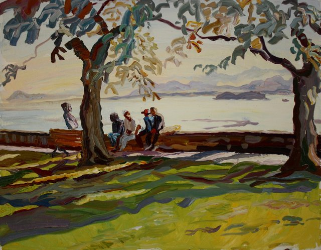 Hang Out at the Park   22 x 28""