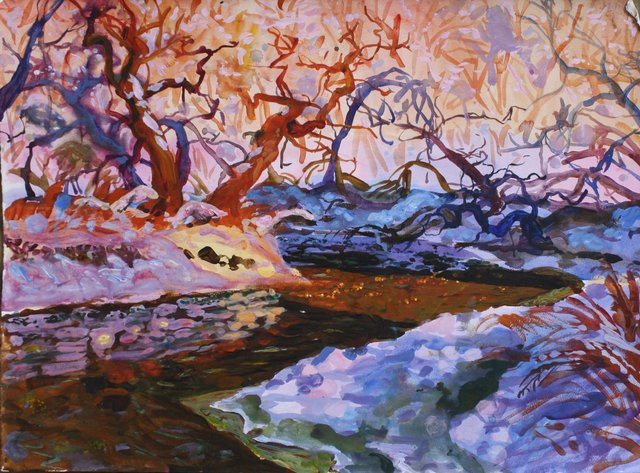 """Bend in the River, 22 x 30"""""""