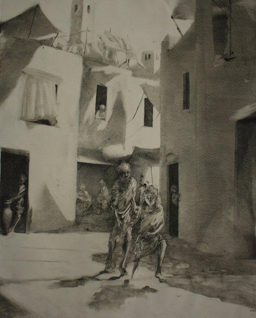 """Odysseus Led through Town   29 x 22"""""""