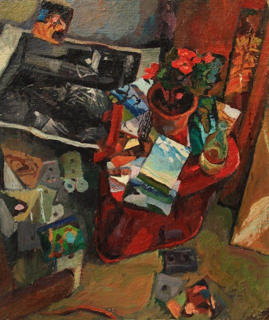 Studio Still-Life with Cassettes   32 x 26""