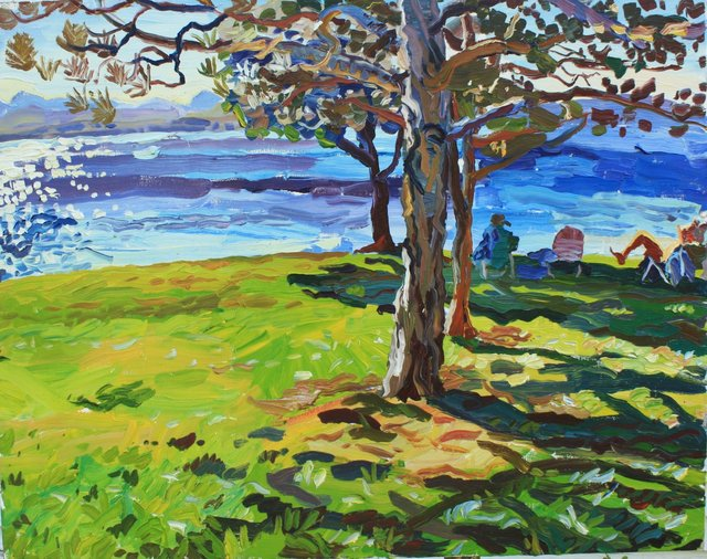 On the Lake    22 x 28""
