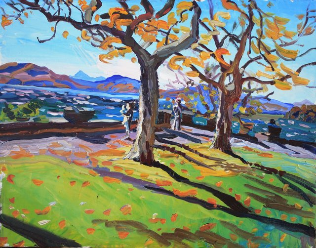 Bright Blowy Day    22 x 28""