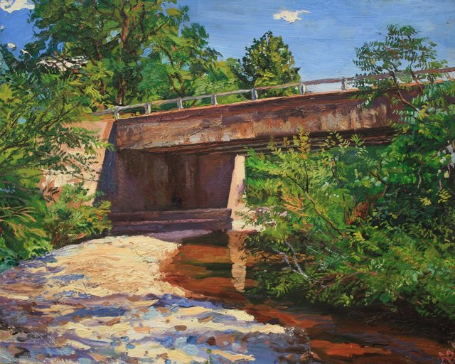 Country Bridge   26 x 32""