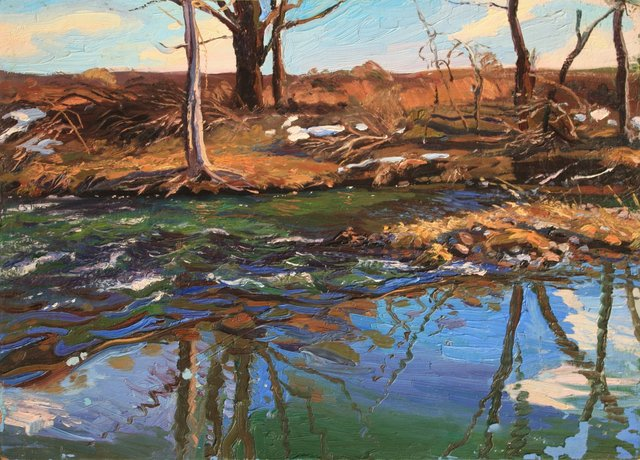 Ithaca Spring Creek    18 x 24""