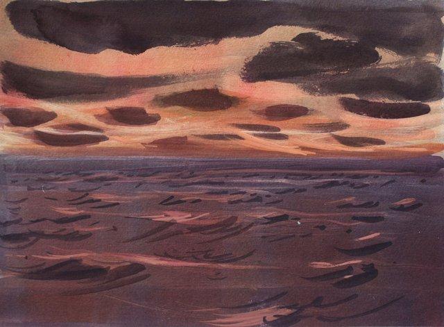 "Atlantic Sunset- Ireland   10 x 13"""