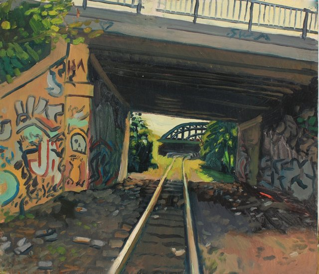 Boston Overpass    20 x 24""