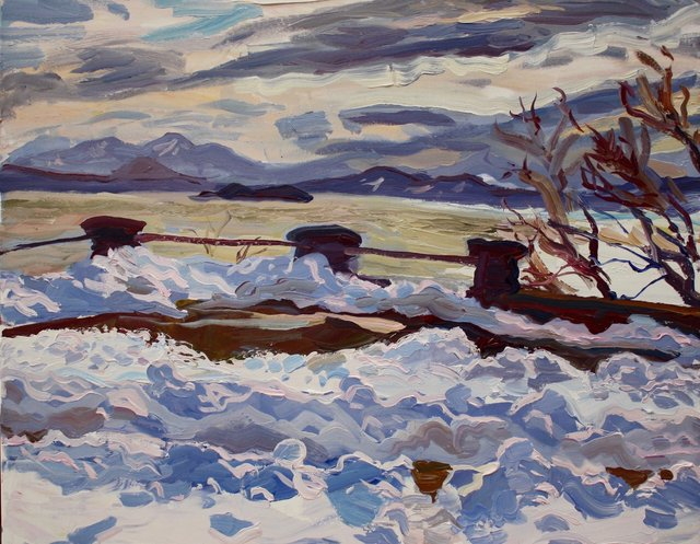 Melting Snow     22 x 28""