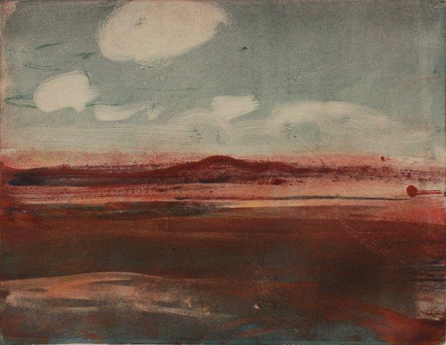 "Desert Shadows   10 x 13"""