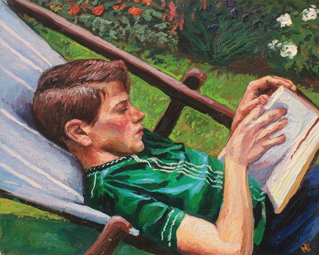 """Sophie in the Garden     24 x 30"""""""