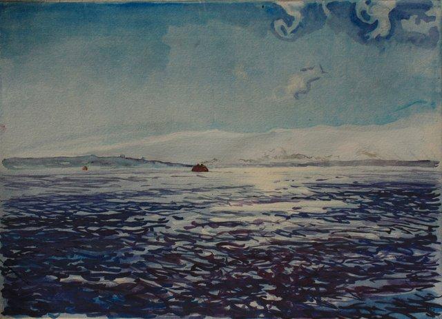"July Harbor    10 x 13"""