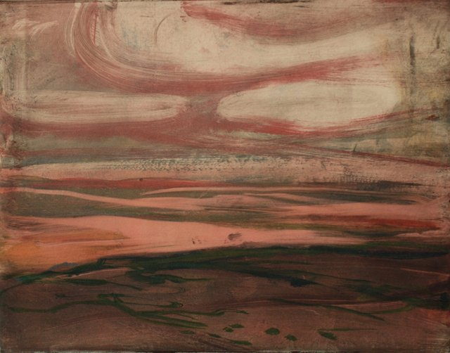 "Desert Near Placitas, NM   10 x 13"""