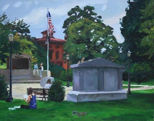 "DeWitt Park, Ithaca     26 x 32"""