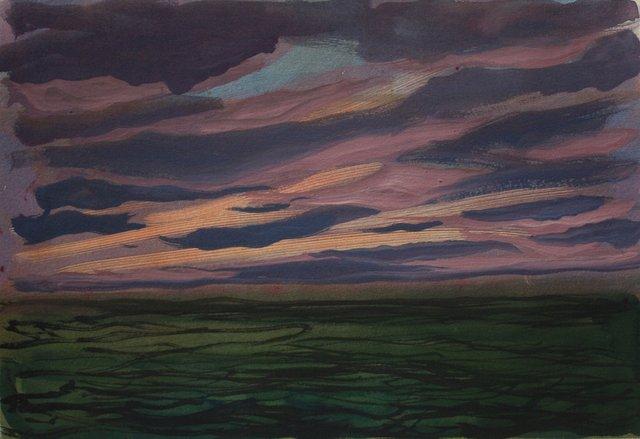 """Ocean Sunset- Ireland   10 x 13"""""""