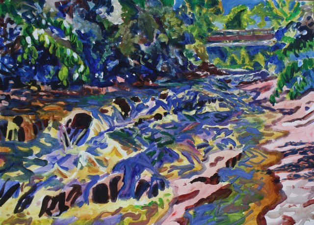 Shelburne Falls- August, 22 x 30""