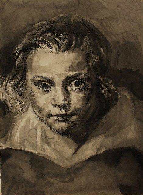 "Clara Serena- From Rubens  16 x 12"""