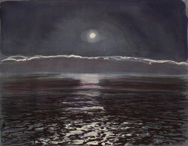 "Ocean Moonlight- Ireland   10 x 13"""