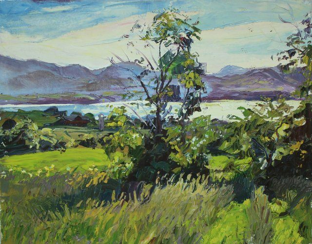 Summer Evening- Lake Champlain  22 x 28""