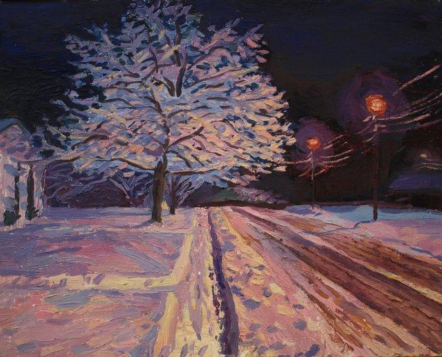 "Winter Street     24 x 30"""
