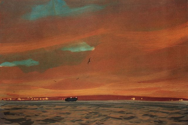 "Harbor Sunset      10 x 13"""