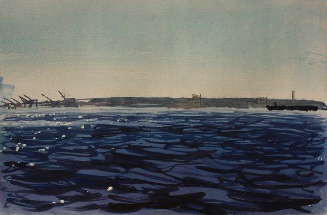 "Harbor Glint   10 x 13"""