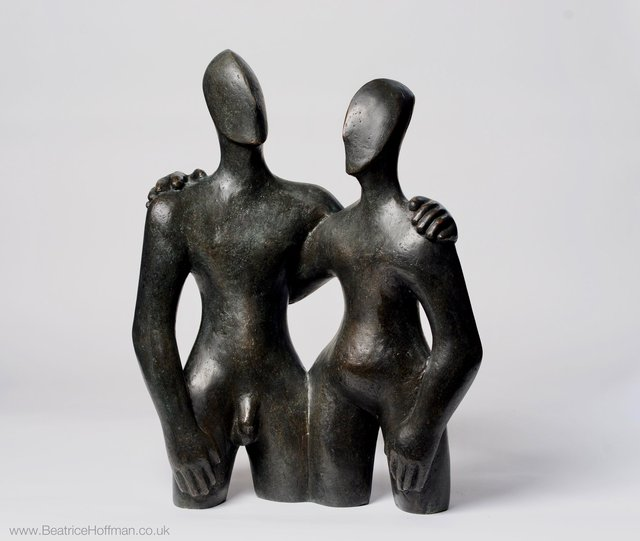 Etruscan Couple 2  2006  50 x 68 x 28cm   Bronze Resin  Rp  £3200