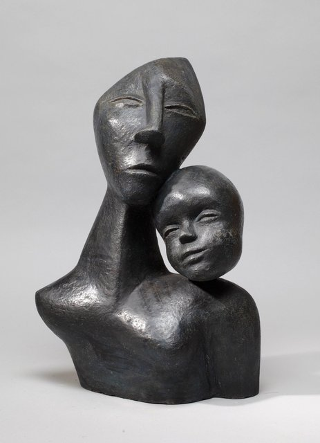 Mother and Child 3    2008    55 x 40 x 28cm    Painted Ceramic  SOLD