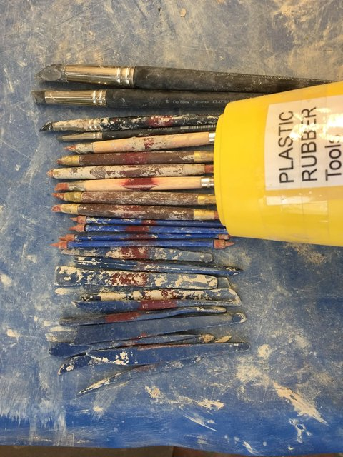 Plastic and rubber tipped  tools