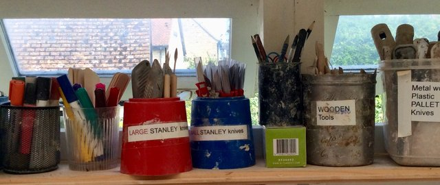 TOOLS AND IMPLEMENTS  STUDENTS USE IN MY STUDIO