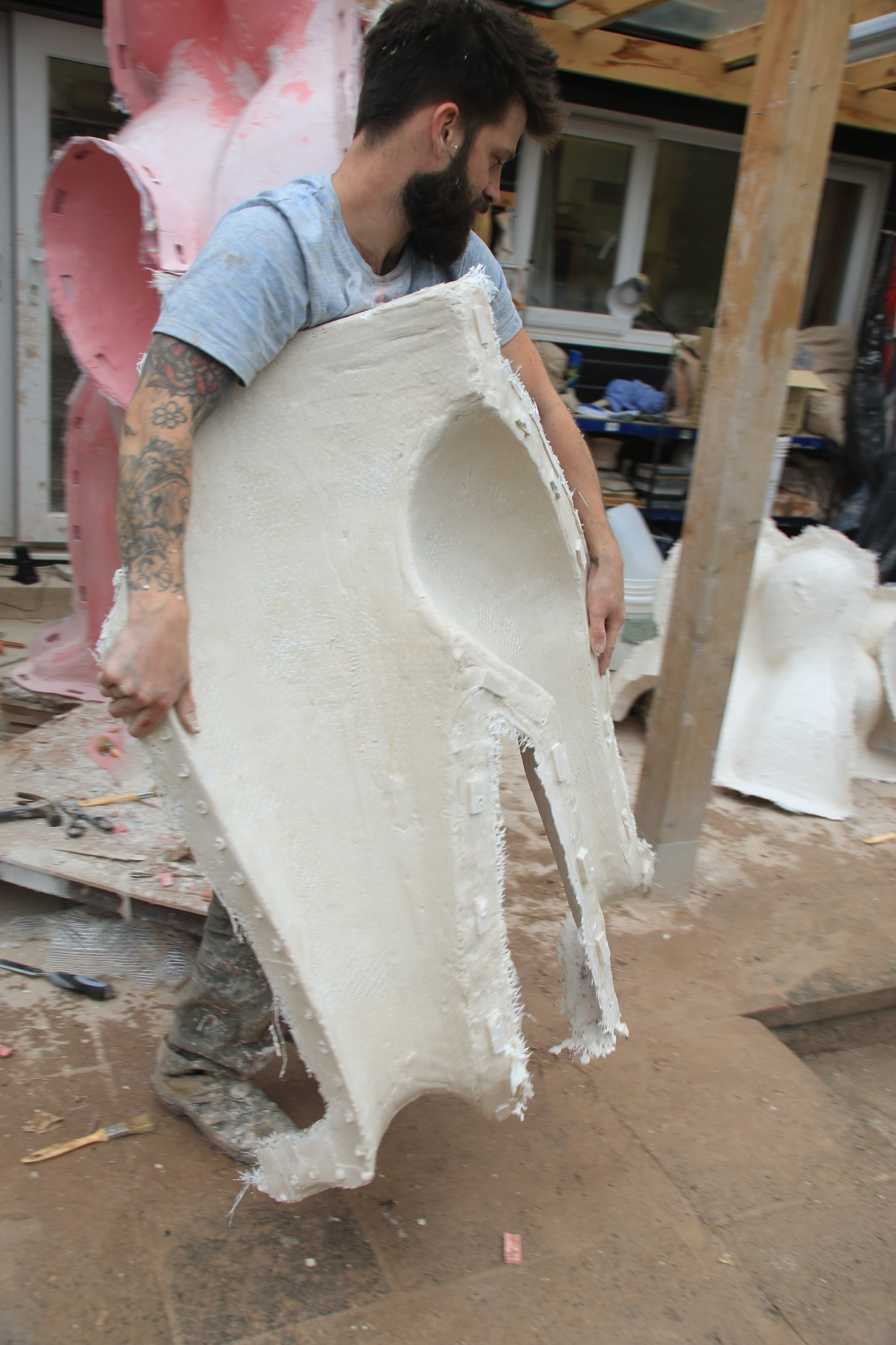 4. De- Moulding: taking off the hard layer