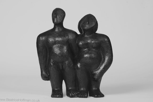 Couple Side by Side   1995 30 x 27 x 7cm  Bronze Resin RP 850