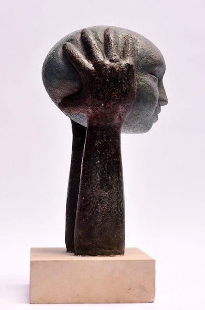 Head on Hands 48 x 20 x 20cm  Beatarice Hoffman 10.jpg