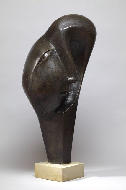 Dark Side of the Face 1999 Height 90 cm  Bronze Resin   SOLD