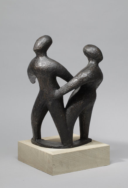 Coming Together,Dancing  Apart   2004,42X36X22cm  Bronze Resin    RP £1650