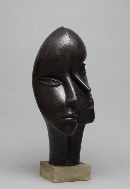 Man and Woman 1998,  68 x 35X  x3 6cm  Bronze Resin