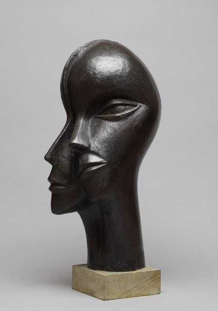 Man and Woman 1 1998, 68X35X36cm  Bronze Resin  RP £2850