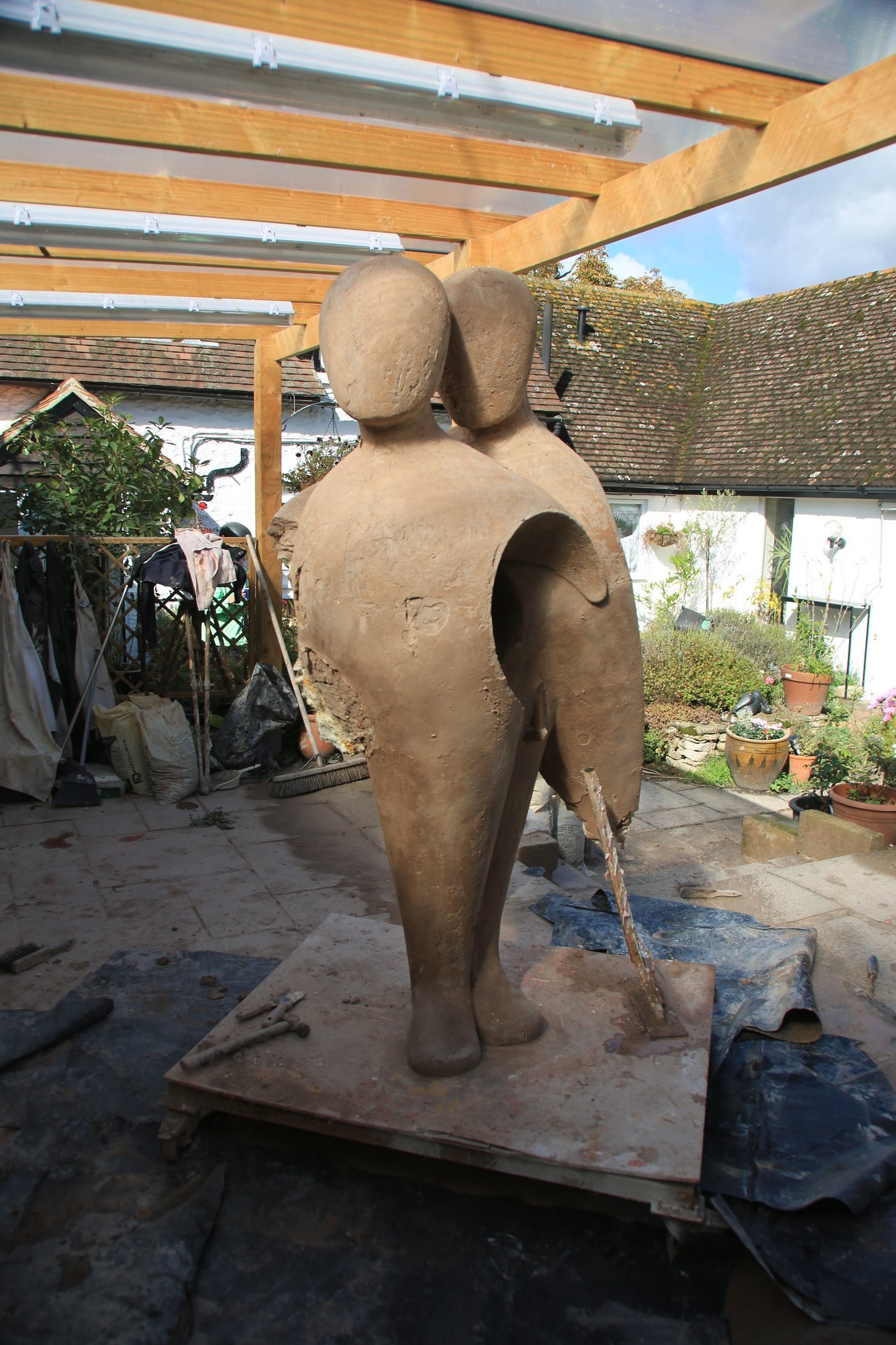 5.. Destroying the clay original, in order to reuse the armature
