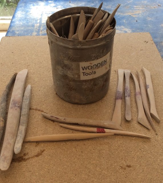 Box wood clay   tools