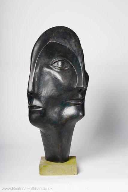Triple Head 1999    90 x 47 x 45cm Bronze Resin  Retail Price £3500