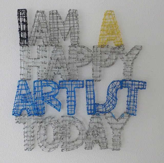 Letter & Number Wire Art