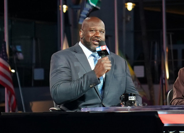 Shaquille Oneille NBA Opening Night