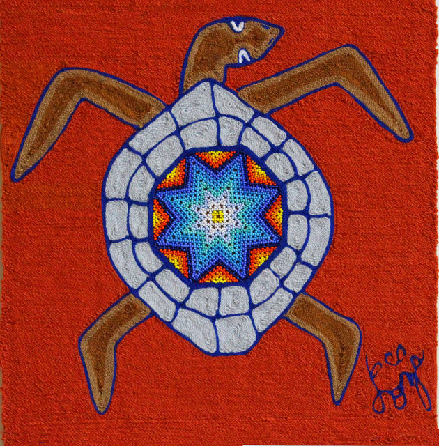 Tortuga de Sayulita  (12 x 12) with beads