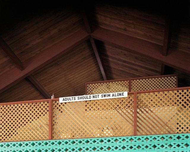 untitled (adults should not swim alone - lattice)
