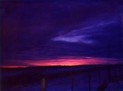 Violet Sunrise 3 by Alison Gracie